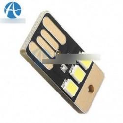 5db kártya lámpa izzó Led kulcstartó Mini LED éjszakai fény hordozható USB Power fehér
