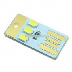 5db3LED éjszakai fény zsebkártya lámpa izzó Led kulcstartó hordozható USB tápegység fehér