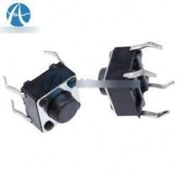 50db 6x6x5mm DIP átmenő lyukú 4pin tapintható nyomógombos kapcsoló pillanatnyi