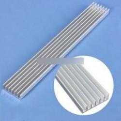 Ezüst-fehér hűtőborda LED 150x20x6mm hűtőborda alumínium hűtőf