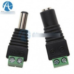 1 páros dugaszoló csatlakozó - AC 100-240V - DC 12V 2A tápegység adapter töltő EU-csatlakozó 5050 LED-es fényhez