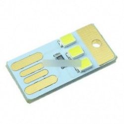 3LED fehér (5db) - Meleg fehér / fehér / fekete 2/3/4 LED USB lámpa izzó Mini éjszakai könnyű hordozható kapcsoló