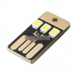 3LED fekete (5db) - Meleg fehér / fehér / fekete 2/3/4 LED USB lámpa izzó Mini éjszakai könnyű hordozható kapcsoló