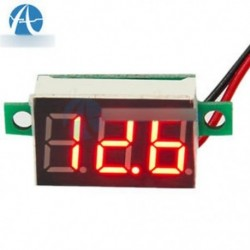 0,36 hüvelykes 4V ~ 30V piros mini LED panel Voltmeter feszültségmérő 2 vezeték 3-digitális