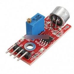 Mikrofon érzékelő AVR PIC nagy érzékenységű hangfelismerő modul Arduino A