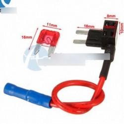 12V-os autós kiegészítő biztosíték TAP adapter Mini ATM APM Auto 10A pengék biztosítéktartó