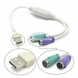 USB-PS2 átalakító fehér - Dual PSX PS1 PS2 női USB csatlakozós adapter átalakító kezelő Arduino-hoz