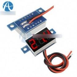 Piros LED panel mérő Mini lítium akkumulátor Digitális feszültségmérő DC 3.3V - 17V A