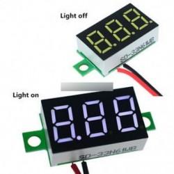 """0,36 """"Mini White 4.7-32V 2 vezetékes LED panel feszültségmérő 3-digitális feszültségmérő"""