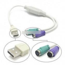 Kettős PS2 női USB-csatlakozó adapter kábel F / M egér billentyűzethez