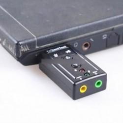Mini USB 2.0 7.1 csatornás hangkártya hangadapter PC laptophoz