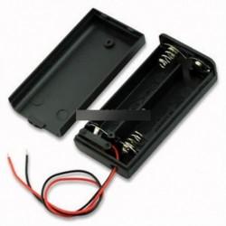 2db 2A akkumulátor tartó doboz tok ON / OFF kapcsolóval és fedéllel 2AA akkumulátorhoz