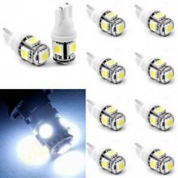 10db T10 5050 W5W 5 SMD 194 168 LED-es autó oldalsó hátsó lámpa lámpa fehér