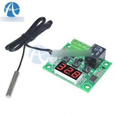DC12V Red W1209 Digitális termosztát hőmérséklet-szabályozó -50-110 ° C   érzékelő