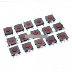 100db 6 * 6 * 2,5 mm-es tapintható nyomógombos kapcsoló Tact Switch Micro kapcsoló 4-pólusú SMD
