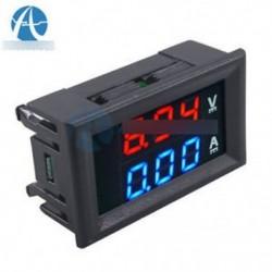 DC 0-100 V piros   kék voltmérő A ... - AC 80-300V / 200-450V 10A feszültségmérő mérő LED digitális