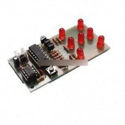 Elektronikus kocka NE555 CD4017 DIY készlet 5mm piros vezetett 4,5-5V ICSK057A elektronikus szórakozás