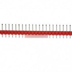 Piros - 10db 40Pin 1x40P Férfi 2,54 mm-es áttörhető tűs fejléc kék / piros / sárga / zöld / fehér