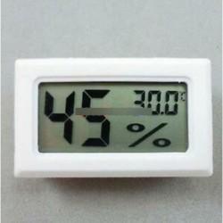 fehér - LCD hőmérő nedvességmérő Páratartalom hőmérséklet mérő beltéri   K típus szonda