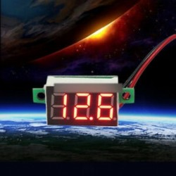 Digitális voltmérő - Piros LED feszültségmérő digitális LCD hőmérséklet páratartalom hőmérő higrométer