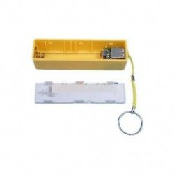 Sárga - Kék / zöld / sárga / fekete USB tápfeszültségű bank tok készlet 18650 akkumulátor töltő DIY doboz