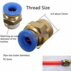 4db BSP 1/4 '' - 6 mm-es egyenes férfi nyomógomb a szerelő Pneumatikus PU tömlőcsatlakozókhoz