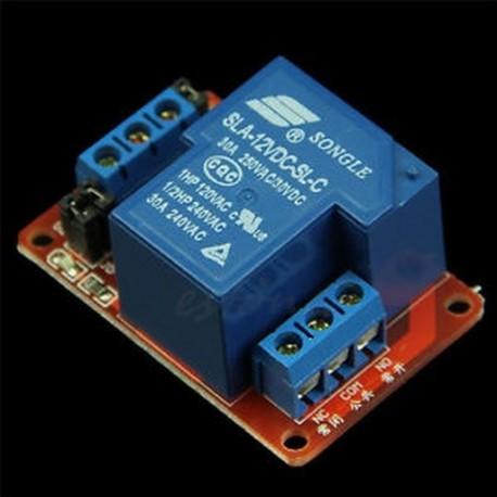 30A 12V 1-csatornás relé modul modul H / L szint optikával