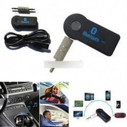 Új Bluetooth V3.0 vezeték nélküli sztereó audio zenelejátszó 3.5mm kihangosító autó AUX
