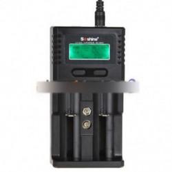 Soshine H2 LCD kijelző fali / autó akkumulátor töltő 18650 26650 Li-ion akkumulátorhoz