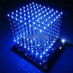 3D-s könnyű négyzet DIY készlet 8x8x8 3 mm-es LED-kocka kék Ray LED M114