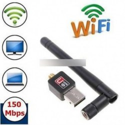 Mini 150Mbps USB WiFi vezeték nélküli adapter Dongle LAN kártya 802.11n / g / b w / Antenna