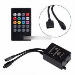 12V DC zene hang aktivált vezérlő RGB LED fénysáv 20 kulcs távirányítóhoz