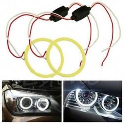 COB 80mm LED autó angyal szem Halo gyűrű izzók Dekoráció fény gyűrűk fehér