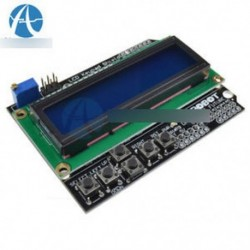 1602 LCD panel Billentyűzet pajzs Kék háttérvilágítás Arduino LCD Duemilanove robothoz