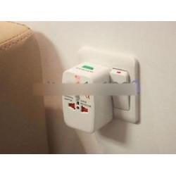 EU AU UK US A Universal World Travel AC tápcsatlakozó átalakító adapter aljzatához