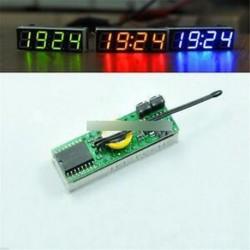 Piros 3 in 1 LED DS3231SN digitális óra hőmérséklet feszültség modul DIY elektronikus