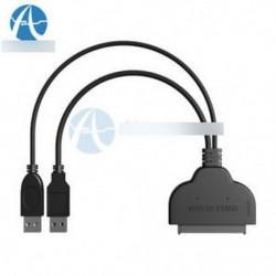 2,5 hüvelykes USB 3.0 a SATA-hoz 22 Pin-os merevlemez-meghajtó SSD-adapterkábel
