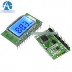 PLL LCD digitális 87-108MHZ FM rádió vevő modul vezeték nélküli mikrofon sztereó