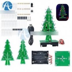 3D Xmas Tree Diy készletek Flash LED áramkör karácsonyi fák LED 7 színes fény