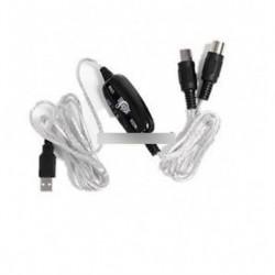 MIDI USB IN-OUT interfészkábel kábel átalakító PC az AL billentyűzetadapterhez