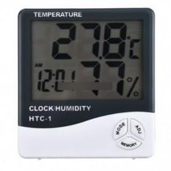 Hőmérő higrométer Időjárás állomás hőmérséklet páratartalom íróasztal ébresztőóra