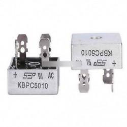 5Pcs 50A 1000V fémdoboz egyfázisú dióda híd egyenirányítója KBPC5010 AL