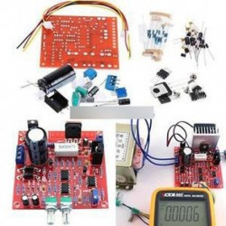 Piros 0-30V 2mA-3A folyamatosan szabályozható DC szabályozott tápegység DIY készlet PCB