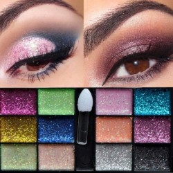 12 színű Tartós kozmetikumok Szemhéjárnyaló paletta készlet Csillogó