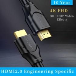 HDMI kábel 2.0 4K 3Ds videokábel HDTV elosztó kapcsolóhoz HDMI kábel 1m
