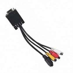Számítógép VGAtól TVhez SVideo 3 RCA kompozit HD AV TV kimeneti átalakító kábel