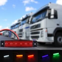 1PC 12V 6 LED tehergépkocsi utánfutó oldalsó jelölők Világos Piros Fehér Sárga Kék Zöld Autódekoráció