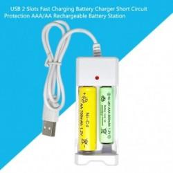 USB 2 bővítőhelyes Gyors töltésű akkumulátortöltő rövidzárlat elleni védelem AAA / AA újratölthető akkumulátor