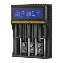 4 nyílású többfunkciós akkumulátortöltő Liion Life NiMH NiCD intelligens töltő AA / AAA / 18650/26650 / 6F22 / 16340