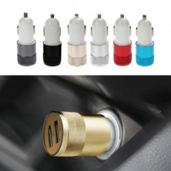 1db Kettős USB autós töltő 2 portos adapter intelligens mobiltelefon univerzális telefonhoz